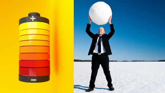 Battery and Snowball Images